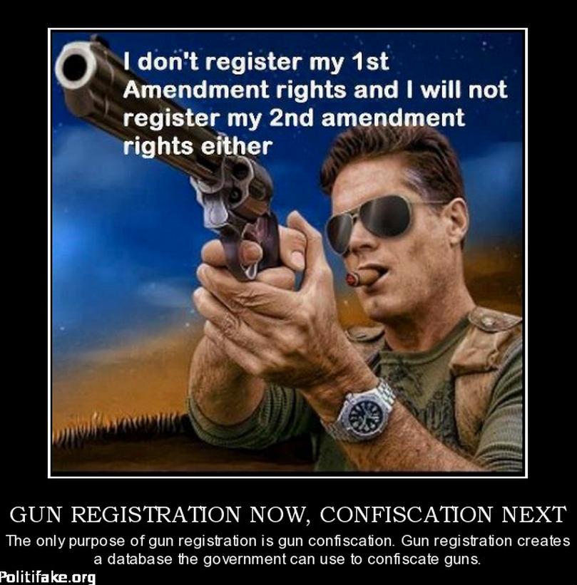 Gun control = confiscation meme